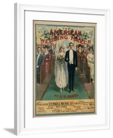 American Wedding March--Framed Art Print