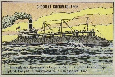 American Whaleback Cargo Ship, 1900--Giclee Print
