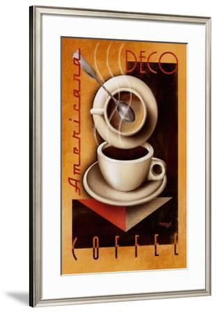 Americana Deco Coffee-Michael L^ Kungl-Framed Art Print