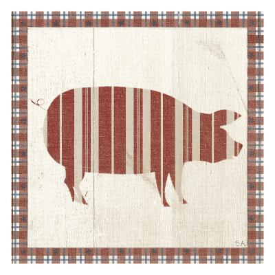 Americana Pig-Sarah Adams-Art Print