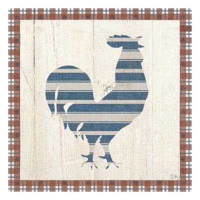Americana Rooster-Sarah Adams-Art Print