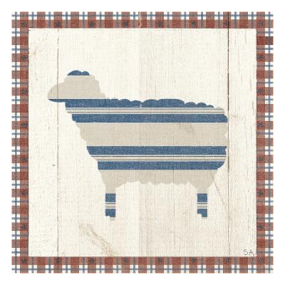 Americana Sheep-Sarah Adams-Art Print