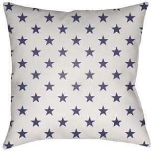 Americana Stars Pillow - Blue