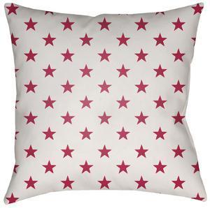 Americana Stars Pillow - Red