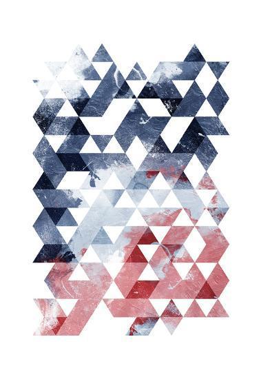 Americana Triangles Third-OnRei-Art Print
