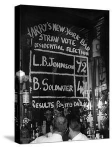 Americans Simulating a Vote in Harry's Bar, Paris During the American Presidential Election