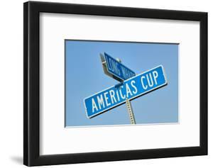 """Americas Cup"" street sign in Newport, Rhode Island"