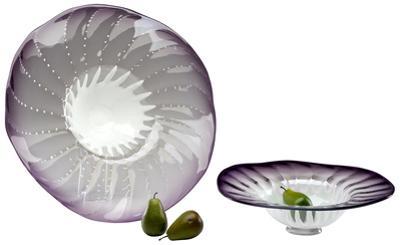 Amethyst Art Glass Bowl - Small