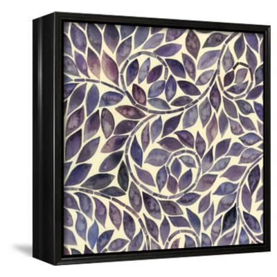 Amethyst Swirls I-Grace Popp-Framed Canvas Print