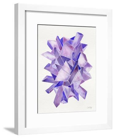 Amethyst Watercolor-Cat Coquillette-Framed Giclee Print