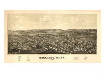 Amherst, Massachusetts - Panoramic Map-Lantern Press-Art Print