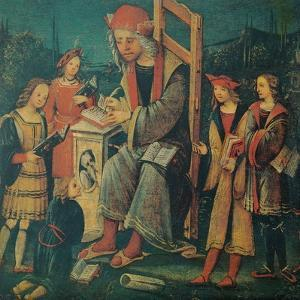 Teacher in the Chair with His Pupils by Amico Aspertini