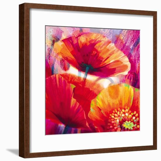 Amid Poppies I-Nick Vivian-Framed Giclee Print