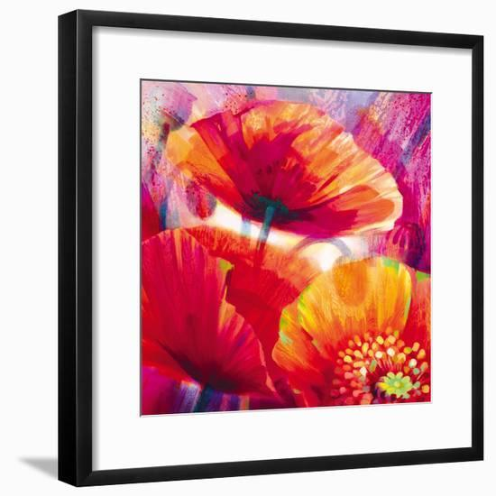 Amid Poppies I-Nick Vivian-Framed Giclee Print