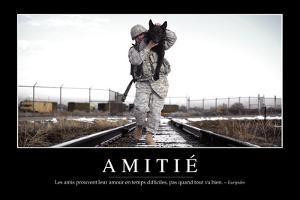 Amitié: Citation Et Affiche D'Inspiration Et Motivation