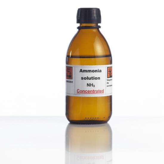 Ammonia Solution, Laboratory Bottle-Science Photo Library-Photographic Print