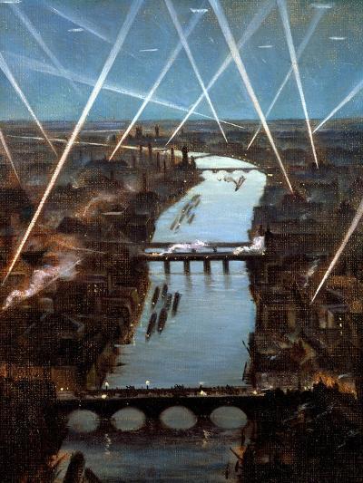 Among London Searchlights-Christopher Richard Wynne Nevinson-Giclee Print