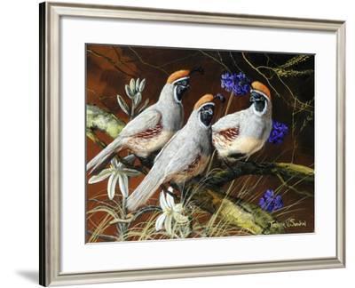 Among Spring Blooms-Trevor V. Swanson-Framed Giclee Print