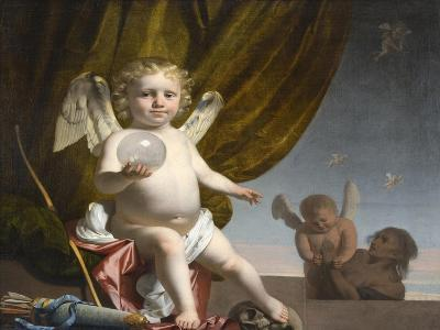 Amor Holding a Glass Orb, 1650-1660-Caesar Boëtius van Everdingen-Giclee Print