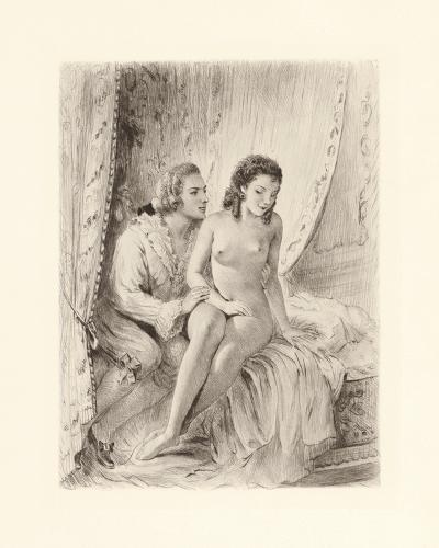 Amorous Embrace-Gabriel Ferrier-Premium Giclee Print