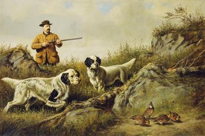 Amos F. Adams Shooting over Gus Bondher and Son, Count Bondher, 1887-Arthur Fitzwilliam Tait-Giclee Print