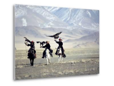 Eagle Hunters Dalai Khan, Takhuu Grandfather, Son Kook Kook, Golden Eagle Festival, Mongolia