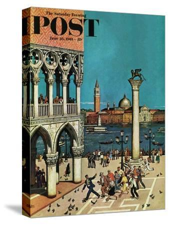 """American Tourists in Venice,"" Saturday Evening Post Cover, June 10, 1961"
