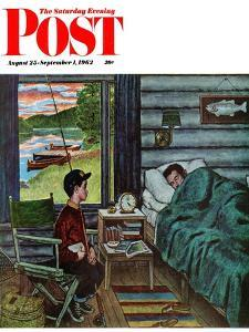 """Dad, the Fish are Biting,"" Saturday Evening Post Cover, August 25, 1962 by Amos Sewell"