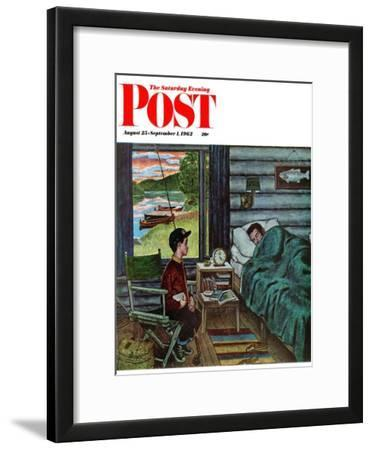 """Dad, the Fish are Biting,"" Saturday Evening Post Cover, August 25, 1962"