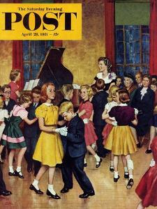 """Dance Cotillion"" Saturday Evening Post Cover, April 28, 1951 by Amos Sewell"