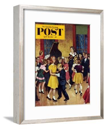 """Dance Cotillion"" Saturday Evening Post Cover, April 28, 1951"