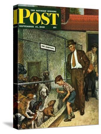 """Dog Pound,"" Saturday Evening Post Cover, September 17, 1949"