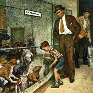 """""""Dog Pound,"""" September 17, 1949 by Amos Sewell"""