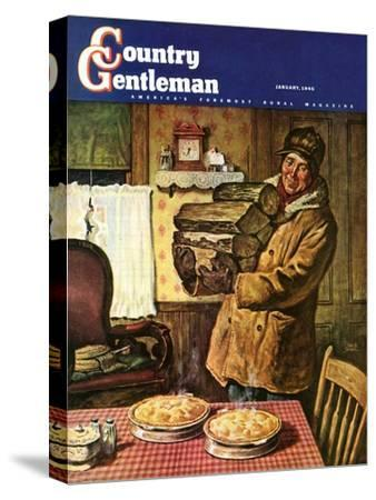 """""""Eyeing the Pies,"""" Country Gentleman Cover, January 1, 1945"""