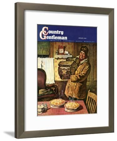"""Eyeing the Pies,"" Country Gentleman Cover, January 1, 1945"