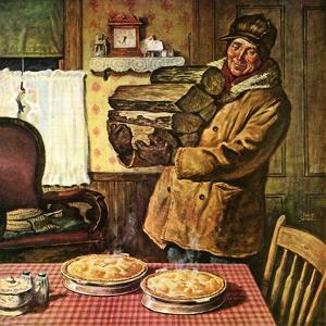 """Eyeing the Pies,""January 1, 1945 by Amos Sewell"