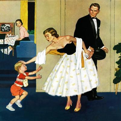 """Formal Hug"", February 15, 1958 by Amos Sewell"