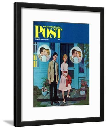 """Goodnight Kiss,"" Saturday Evening Post Cover, July 28, 1962"