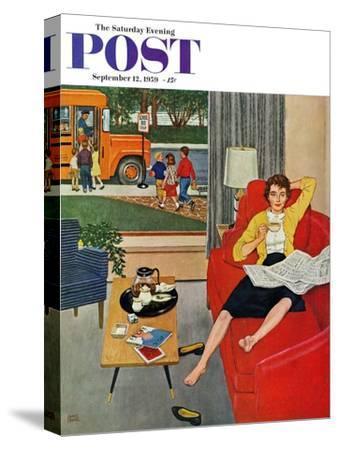 """Morning Coffee Break"" Saturday Evening Post Cover, September 12, 1959"