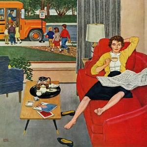 """Morning Coffee Break"", September 12, 1959 by Amos Sewell"