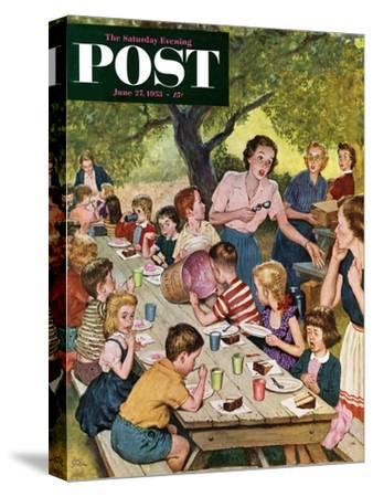 """""""Out of Ice Cream"""" Saturday Evening Post Cover, June 27, 1953"""