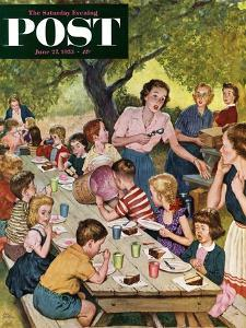 """""""Out of Ice Cream"""" Saturday Evening Post Cover, June 27, 1953 by Amos Sewell"""