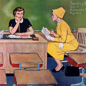 """Parent - Teacher Conference"", December 12, 1959 by Amos Sewell"