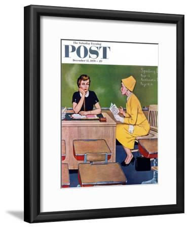 """Parent - Teacher Conference"" Saturday Evening Post Cover, December 12, 1959"