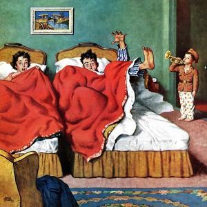 """""""Parents' Reveille"""", February 20, 1954 by Amos Sewell"""
