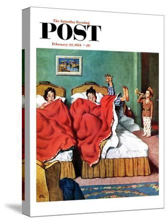 """Parents' Reveille"" Saturday Evening Post Cover, February 20, 1954"