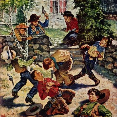 """""""Playing Cowboy"""", March 11, 1950"""