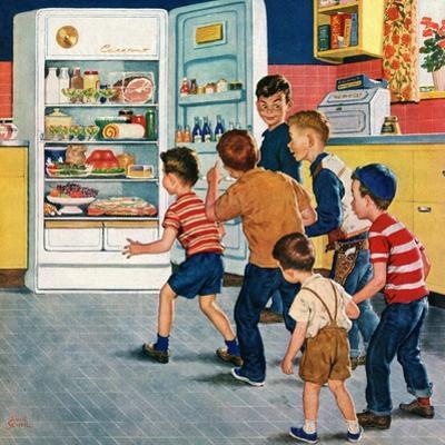 """Refrigerator Raid"", February 19, 1955 by Amos Sewell"