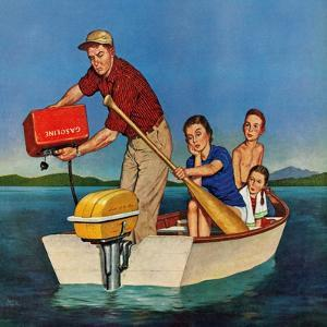 """""""Row, We're Out of Gas"""", June 27, 1959 by Amos Sewell"""