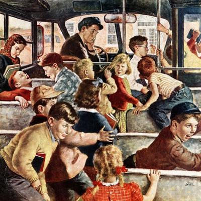 """""""Rowdy Bus Ride"""", September 9, 1950 by Amos Sewell"""